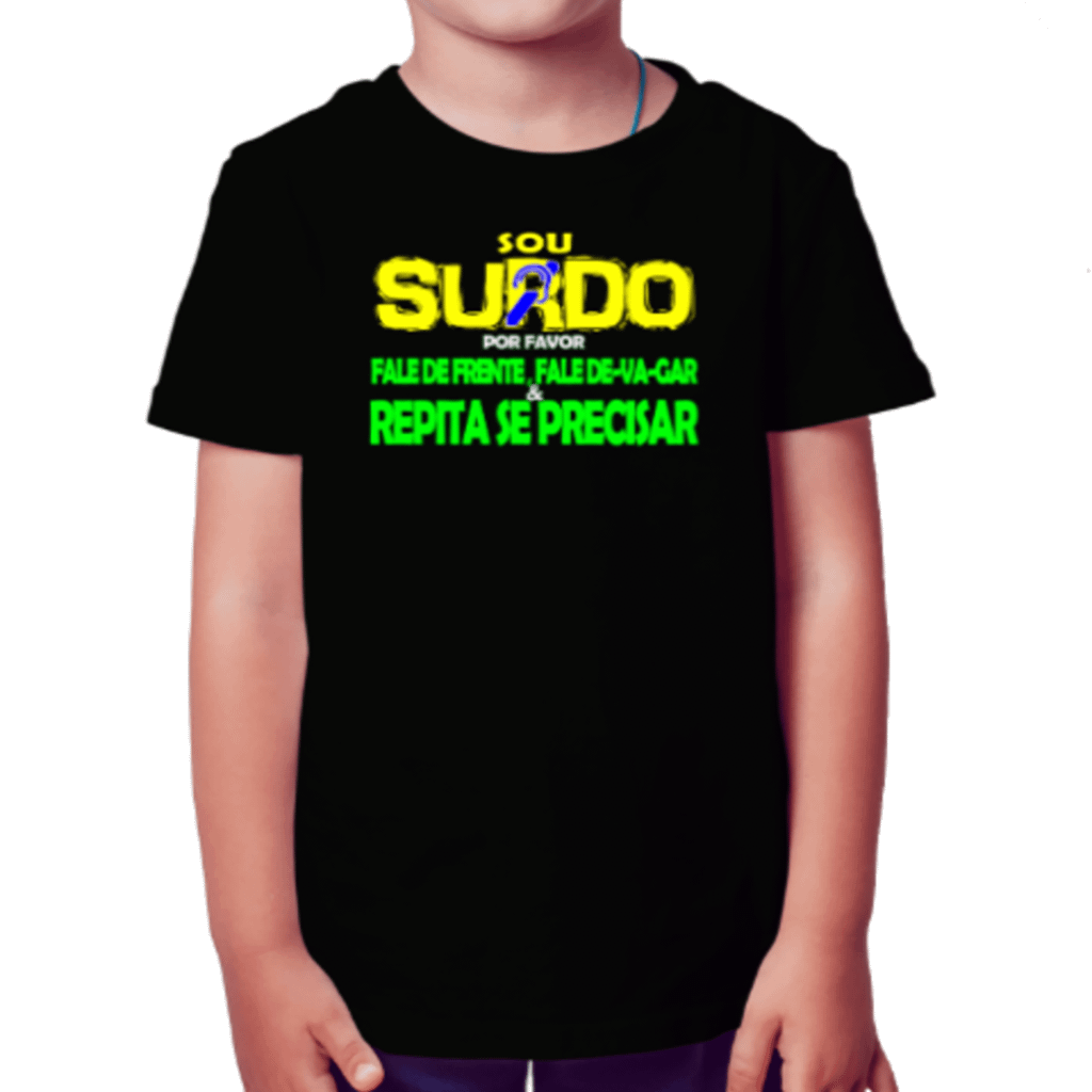 Menino Informativo (Camiseta Preta)