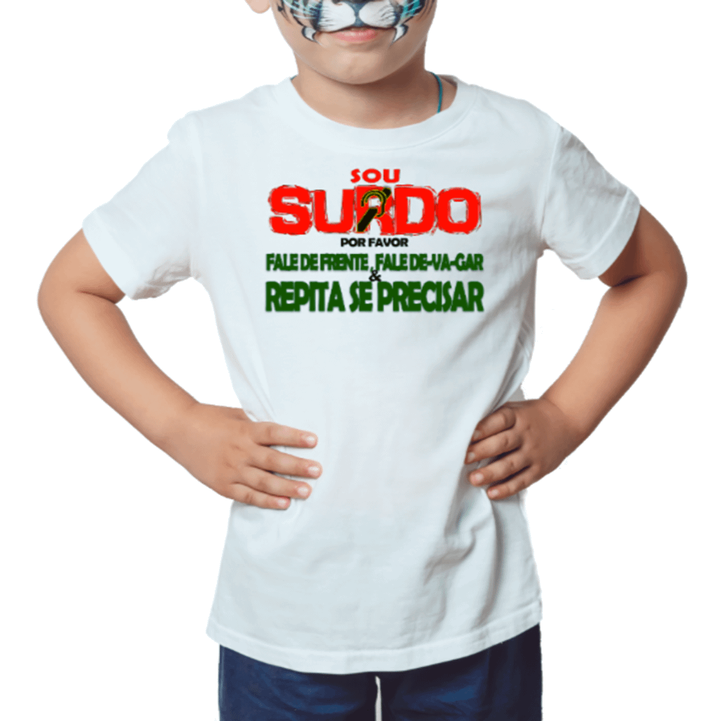 Menino Informativo (Camiseta Branca)