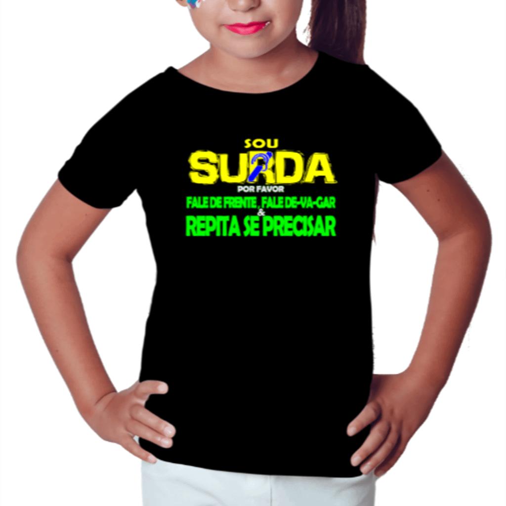 Menina Informativa (Camiseta Preta)